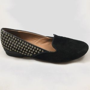 Shoes - [Dolce Vita] SALE✨Black Suede Loafers w Gold Studs